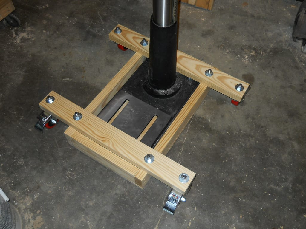 Thoughts on a mobile base for a drill press? : woodworking